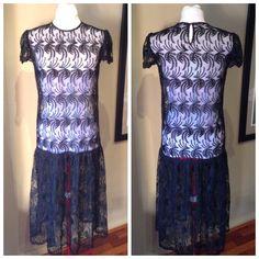 1920s Looks, Under The Skirt, 1920s Style, Shirtwaist Dress, Costume Shop, Drop Waist, Beautiful Patterns, 1980s, Short Sleeve Dresses