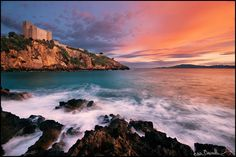 Sunset at Talamone in Maremma Tuscany: the set for a James Bond movie and a favourite place of mine.