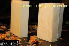 Cold Process - Calendula Sunflower Cocoa Butter Soap Recipe