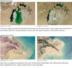 World of Change: 25 pairs of remote sensing images