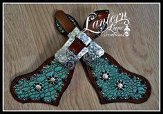 spur straps/antique croc/black cabochos/silver hardware