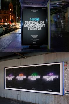 glowing typeface / Melbourne Theatre Company 2013 identity (by Interbrand)