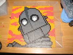 The Iron Giant perler beads by ndbigdi - Pattern: https://www.pinterest.com/pin/374291419011435056/