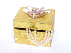 Christmas Gift Box with Flower Top Decorative Boxes by LonasART