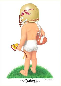 Florida State Football Images | Florida State University Seminoles Football Player In Training Art ...
