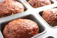 Petite Turkey Meatloaves #lowcarb #dinner #mini #kidfriendly #weightwatchers #oatmeal