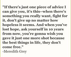 meredith grey quotes - Google Search