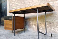 Bureau relooker 3 tiroirs bruns vintage maison deco brico