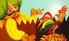 A kiskakas gyémánt félkrajcárja - Diafilm Grimm, Bowser, Disney Characters, Fictional Characters, Fantasy Characters, Resim