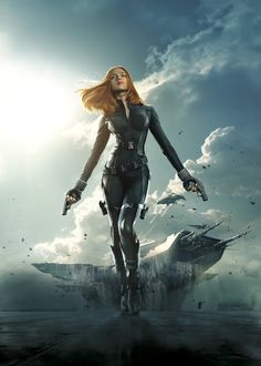 Captain America 2 BLACK WIDOW PHOTOS | Captain-America-The-Winter-Soldier-BlackWidow posterart - Visit to grab an amazing super hero shirt now on sale!