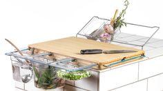 Cutting Board Upgraded to Kitchen Workbench: The Frankfurter Brett - http://freshome.com/cutting-board-upgraded-kitchen-workbench-frankfurter-brett