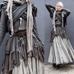 Dark mori and strega fashion Mode Alternative, Alternative Fashion, Kleidung Design, Mode Costume, Dark Mori, Mori Fashion, Witch Fashion, Creation Couture, Fantasy Costumes