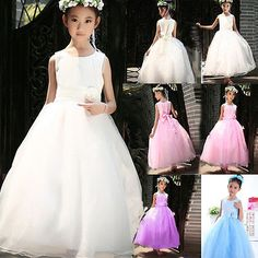 2015 kid baby girl #party/bridesmaid/princess/wedding #flower dress aged #18m-14y,  View more on the LINK: 	http://www.zeppy.io/product/gb/2/151862852986/
