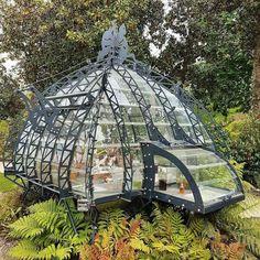 Steampunk greenhouse - All For Garden Gazebo, Pergola, Casa Steampunk, Steampunk Cosplay, Gothic Steampunk, Steampunk Clothing, Wooden Greenhouses, Greenhouse Gardening, Greenhouse Ideas