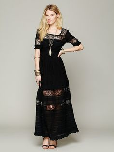 Free People Mix In The Crochet Dress at Free People Clothing Boutique