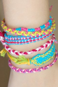 "DIY Friendship Bracelet Loom: I have been trying to make some bracelet's as gifts for friends and family. (Note, the word ""trying"".) I'm hoping this loom will be the answer to my prayers!"