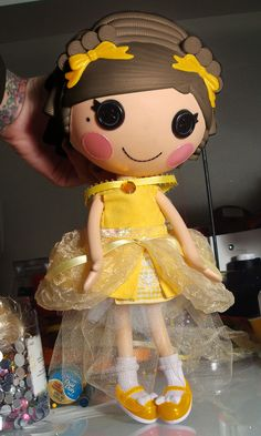 "Lalaloopsy Dress, Lalaloopsy clothing by Peppermint Piglets on Etsy. Disney inspired Beauty and the Beast ""Belle"" dress!"