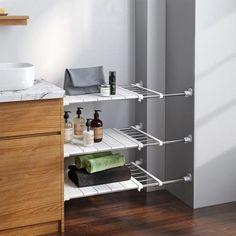 Expandable Storage Rack – Dealz Ninjaa Wardrobe Shelving, Closet Shelves, Extra Storage Space, Storage Spaces, Storage Rack, Storage Shelves, Diy Kitchen Storage, Rack Design, Cabinet Space
