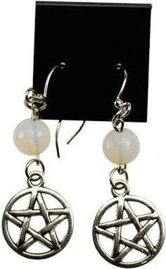 Opalite Pentagram Earrings