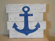 Recycled Pallet Wood Anchor Sign by BeachHouseWoodworks on Etsy, $25.00