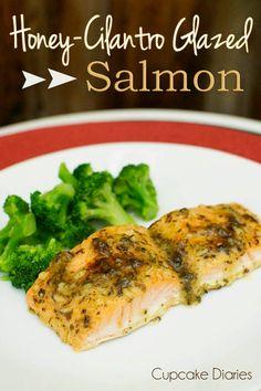 Honey-Cilantro Glazed Salmon Recipe - possibly chicken?