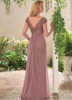 comprar Junoesque-como la seda de la gasa con cuello en V escote una línea 945558c404