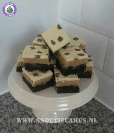 Www.facebook.com/snoetiecakes chocolate coated peanutbutter cookiedough brownies mmmm