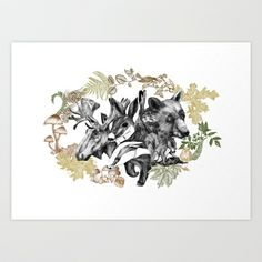 Flourish in obscurity Art Print by larabispinck - $19.00