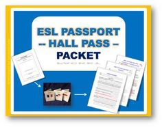 This ESL Passport HALL PASS is the same as the one sold individually, except that it has a very useful translation page for your students to help them better understand and learn new vocabulary, along with a Quiz for beginners and intermediate/advanced students.See the description below related to the hall pass itself, the translation page, as well as the quiz, but make sure to also look at the preview to give you a nice visual idea of what the packet contains.THE PASSPORT HALL PASS:The ...