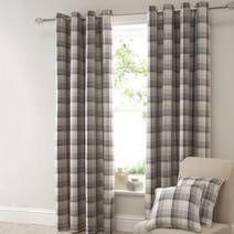 Mauve Balmoral Lined Eyelet Curtains