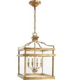 Visual Comfort CHC2161GI E.F. Chapman Mykonos 4 Light 17 inch Gilded Iron with Wax Foyer Pendant Ceiling Light