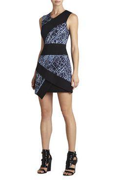 Dalia Sleeveless Asymmetrical Skirt Dress | BCBG