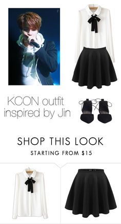 """KCON outfit inspired by Jin"" by kookiechu ❤ liked on Polyvore featuring WithChic and Zimmermann"