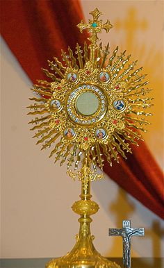 Jesus is present in the holy eucharist