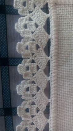 Ideas Crochet Heart Motif Projects F - Diy Crafts Crochet Edging Patterns, Crochet Lace Edging, Crochet Borders, Filet Crochet, Crochet Doilies, Crochet Flowers, Crochet Stitches, Crochet Hooks, Diy Crafts Crochet