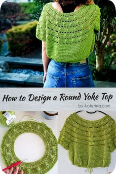Crochet crafts 834151162221011859 - How to Design a round Yoke Top – ByKaterina Source by cathazbou Pull Crochet, Gilet Crochet, Mode Crochet, Crochet Yoke, Crochet Round, Crochet Blouse, Crochet Stitches, Diy Blouse, Sewing Patterns
