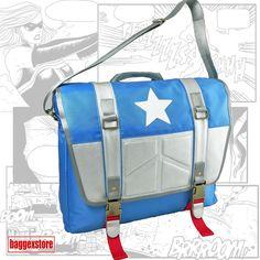 Captain America Shoulder Bag Youth Satchel Messenger Bag Casual Teenager Bookbag #BaggexStore #MessengerShoulderBag