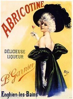 French-France-Abricotine-Liqueur-Wine-Advertisement-Art-Vintage-Poster-Print