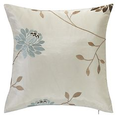 Country Beige Embroidery Polyester Decorative Pillow Cover – CAD $ 11.18