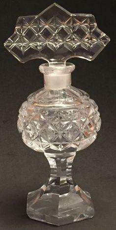Vintage Arrow Shaped Clear Crystal Czechoslovakian Perfume Bottle