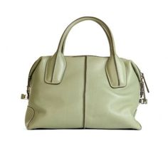Tod's Pale Green Leather D-Bag Bauletto Bag