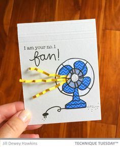 One Handmade Card Fun handmade stamped card created with the Fan-tastic stamp set from Technique Tuesday. // Fun handmade stamped card created with the Fan-tastic stamp set from Technique Tuesday. Tarjetas Diy, Karten Diy, Handmade Birthday Cards, Birthday Cards To Make, Friend Birthday Card, Birthday Ideas For Mom, Diy Birthday Card For Boyfriend, Birthday Puns, Creative Birthday Cards