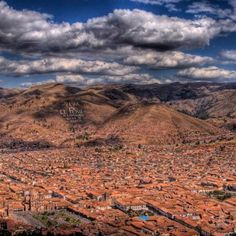 Stunning views from above of the great Incan city - Cusco, Peru www.finisterra.ca