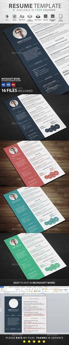 InfoGraphic Style Resume Template | Work stuff | Pinterest ...