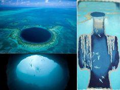 'Grande Buraco Azul' no meio do mar atrai turistas na América Central - Bhaz