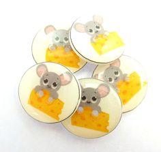 5 Handmade Rabbit Sewing Buttons. Rabbit Buttons by buttonsbyrobin