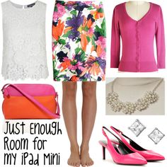 Just Enough Room for my iPad Mini by deneet on Polyvore featuring Topshop, Cosabella, J.Crew, Yves Saint Laurent and Talbots