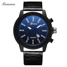 2017 Top Luxury Brand Mens Watches Wristwatch Males Calendar Sports Clock PU Leather Watchband Montres Hommes #Affiliate