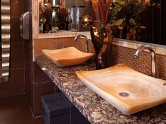 This vanity is Cambria Shirebrook with vessel sinks