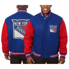 New York Rangers JH Design Two-Tone All Wool Jacket - Blue/Red - $399.99